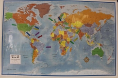 We're from all over! (Each flag points to region someone in the church is from)