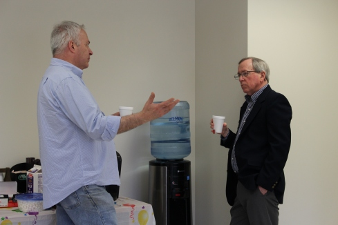 Watercooler talk with David Blais and Rev. Kim Richardson